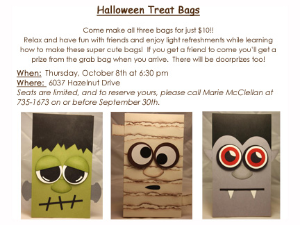 Halloween Treat Bags invitation